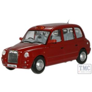 TX4006 Oxford Diecast 1:43 Scale Nightfire Red TX4 Taxi