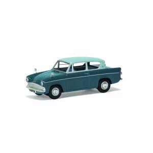 VA00132 Corgi 1:43 Scale Ford Anglia 105E Deluxe - Pompadour Blue & Shark Blue