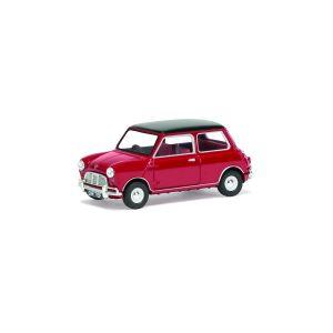 VA02539 Corgi 1:43 Scale Mini Cooper S Mk1- Tartan Red & Black