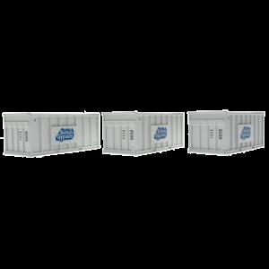 N-ACC-GYPSUM-A Revolution Trains N Gauge PFA British Gypsum containers White Triple Pack