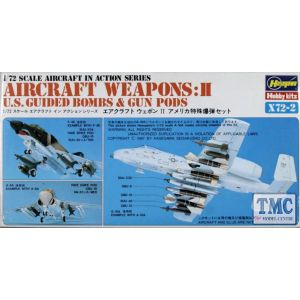 Hasegawa Aircraft Weapons: II  U.S. Guided Bombs & Gun Pods Kit No X72-2 1:72 (Pre owned)