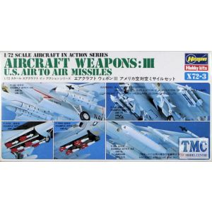Hasegawa Aircraft Weapons: III  US Air-to-Air Missiles Kit No X72-3 1:72 (Pre owned)