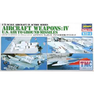 Hasegawa Aircraft Weapons: IV  U.S. Air To Ground Missiles Kit No X72-4 1:72 (Pre owned)
