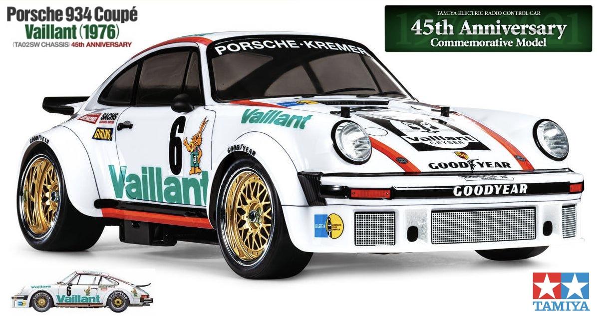 47477 Tamiya Radio Control Porsche 934 Coupe Vaillant TA02SW 45th Anniversary