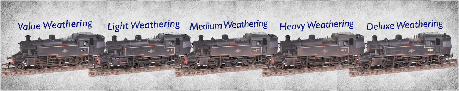Steam Locomotive Weathering Comparisonn