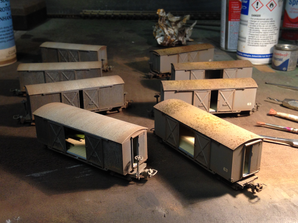 Weathered Narrow Gauge Wagons