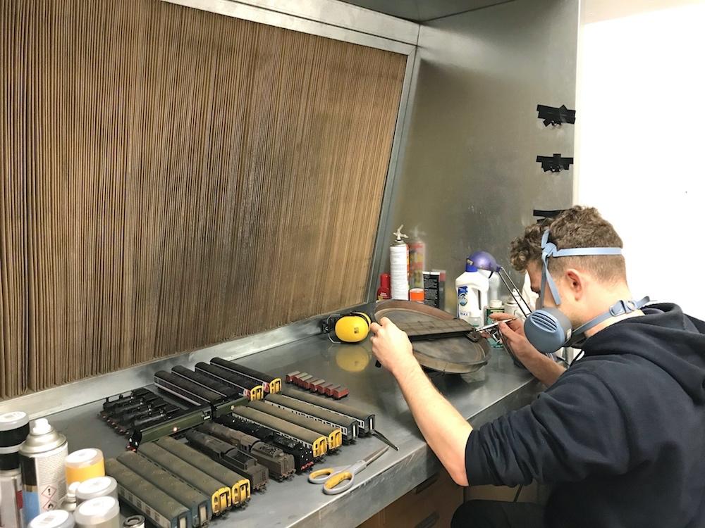 Technician Working on an ADM Turntable