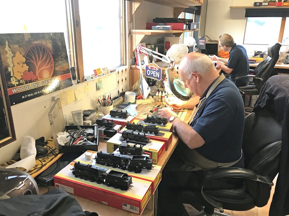Our Technician Working On A Batch Of Customer Supplied Locos