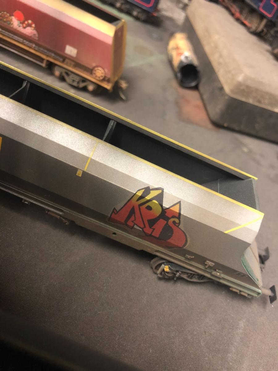 Graffiti Wagons Weathered By TMC