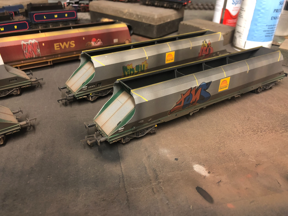 Graffiti Wagons Weathered By TMC