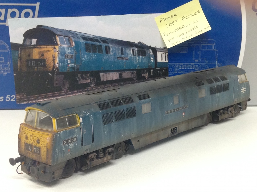 Class 52 Western Deluxe Weathered by TMC