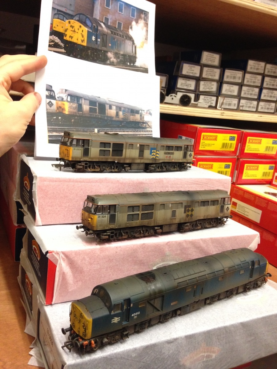 Deluxe Weathered Locos Interpreted From Photos