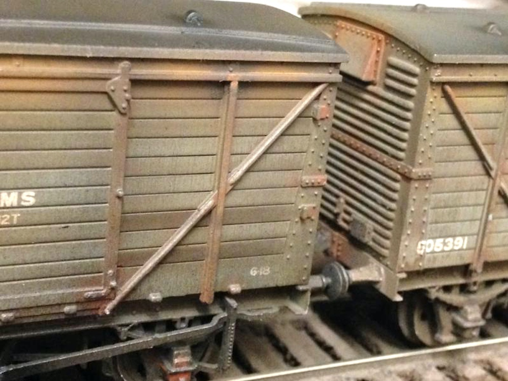 Deluxe Weathered Bachmann Wagons