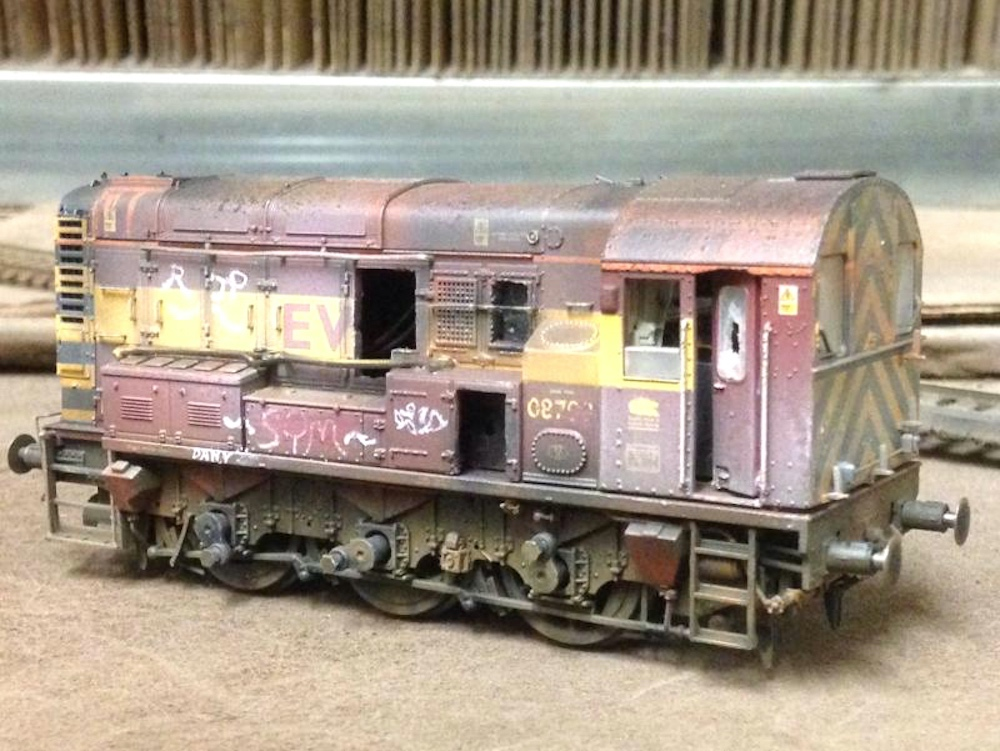 Class 08 Made into Scrap Loco and Weathered by TMC